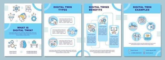 Digital twin brochure template vector