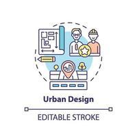 icono del concepto de diseño urbano vector