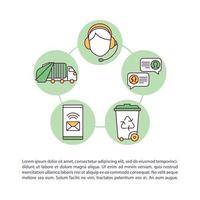 Contact your waste hauler concept icon with text vector