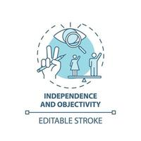 Independence and objectivity concept icon vector