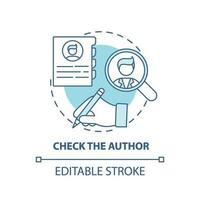Checking author concept icon vector