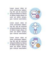 Regla de ropa interior para prevenir el concepto de abuso infantil icono con texto vector
