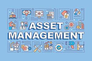 Asset management word concepts banner vector