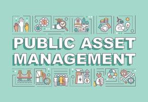 Public asset management word concepts banner vector