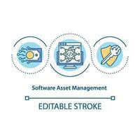 icono del concepto de gestión de activos de software
