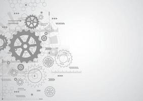 Fondo abstracto del mecanismo de la rueda dentada. tecnología de la máquina. ilustración vectorial