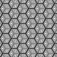 Abstract geometric cubes pattern background design. Vector illustration