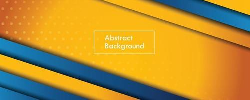 blue and yellow paper banner abstract background vector