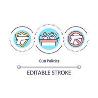Gun politics concept icon vector