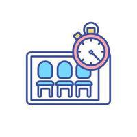 icono de color rgb de sala de espera virtual