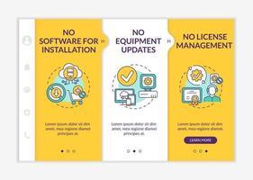 plantilla de vector de incorporación de ventajas de software como servicio