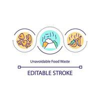Unavoidable food waste concept icon vector