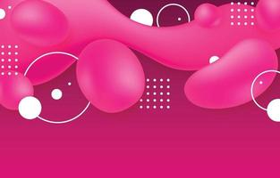 Abstract Fluid Shapes in Vivid Pink Colors Background vector