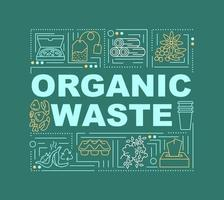 Organic waste word concepts banner vector