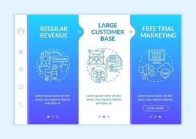 Software as service bonuses for developers onboarding vector template