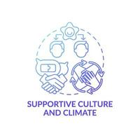 icono de concepto de clima y cultura de apoyo vector