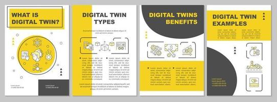 Digital copy object physical of world brochure template