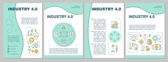 Business automation brochure template