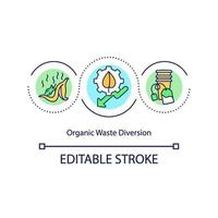 Organic waste diversion concept icon vector