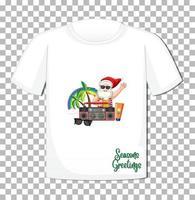 Santa Claus cartoon character in Christmas Summer theme vector