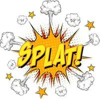 SPLAT text on comic cloud explosion isolated on white background vector