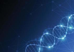 Science template, wallpaper or banner with a DNA molecules. vector