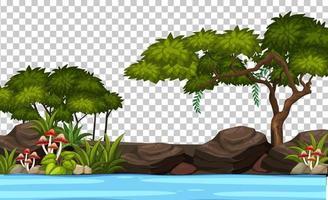 Blank nature garden with river scene landscape vector