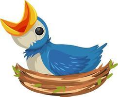 Hungry chicks cartoon character vector