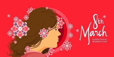 International women's day illustration for banner, poster, and social media vector