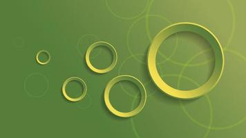 Abstract geometric background with green gradient circle background vector