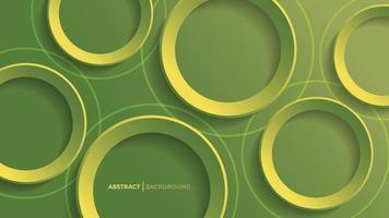 Fondo geométrico abstracto con fondo de círculo degradado verde vector
