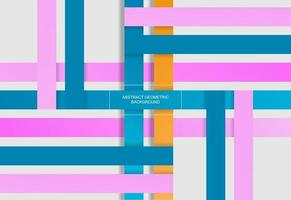 rectangle geometric abstract design in soft colors vector