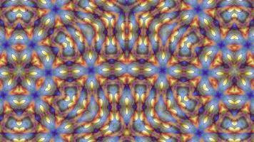 sfondo astratto fantasia caleidoscopio arancione video