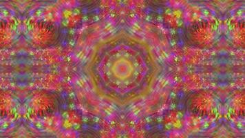 Fondo caleidoscopio simétrico brillante abstracto