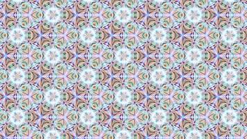 abstracte caleidoscoopachtergrond met een lichtgevend patroon video