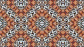 Fondo de caleidoscopio abstracto con un patrón luminoso