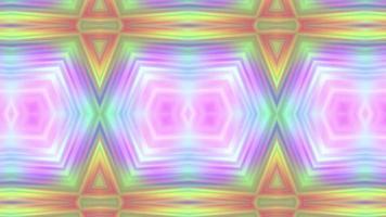 caleidoscopio geométrico abstracto con efecto neón