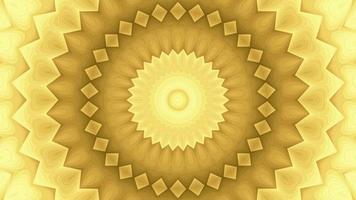 Fondo de caleidoscopio en movimiento dorado con textura abstracta
