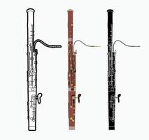 Bassoon Orchestra Music Instrument vector