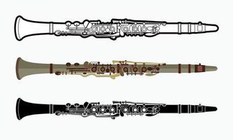 Clarinet Orchestra Music Instrument. vector