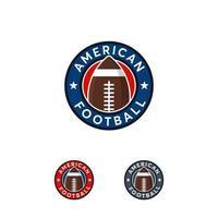 Plantilla de insignia de diseños de logotipo de fútbol americano, insignia de rugby vector