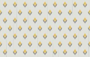 Traditional Ikat seamless pattern design. Design for carpet, wallpaper, clothing, wrapping, batik, fabric, Vector illustration embroidery style in Ethnic themes.