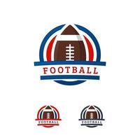American Football logo designs Badge template, Rugby Logo badge vector