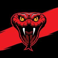 Snake head mascot vector