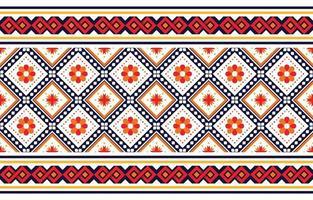 patrón étnico boho con flores en colores brillantes. diseño para alfombras, papel tapiz, ropa, envoltura, batik, tela, estilo de bordado de ilustración vectorial en temas étnicos. vector