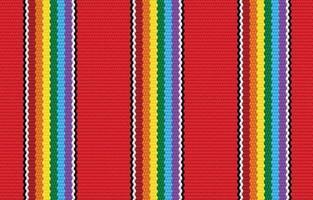 Modelo inconsútil geométrico étnico del orgullo rojo en el estilo de la tela. diseño para alfombras, papel tapiz, ropa, envoltura, batik, tela, estilo de bordado de ilustración vectorial en temas étnicos. vector
