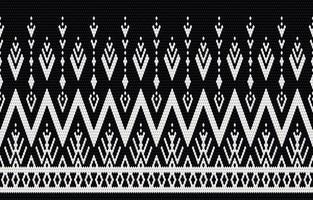 bordado de patrón étnico geométrico y diseño tradicional. textura de vector étnico tribal. diseño para alfombra, papel tapiz, ropa, envoltura, batik, tela en estilo bordado en temas étnicos.