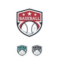 Baseball Sport logo designs badge vector template, Professional Sports Badge Logo