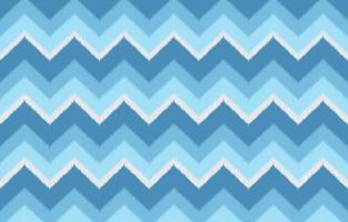 Ikat zigzag ethnic pattern in blue color. Design for carpet, wallpaper, clothing, wrapping, batik, fabric, Vector illustration embroidery style in Ethnic themes.