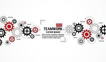 engranajes ruedas sobre fondo blanco. concepto creativo de trabajo en equipo. diseño colorido. ilustración vectorial vector